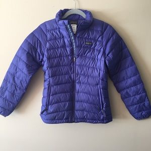 Patagonia Girls Size L (12) Puffy Jacket  Purple